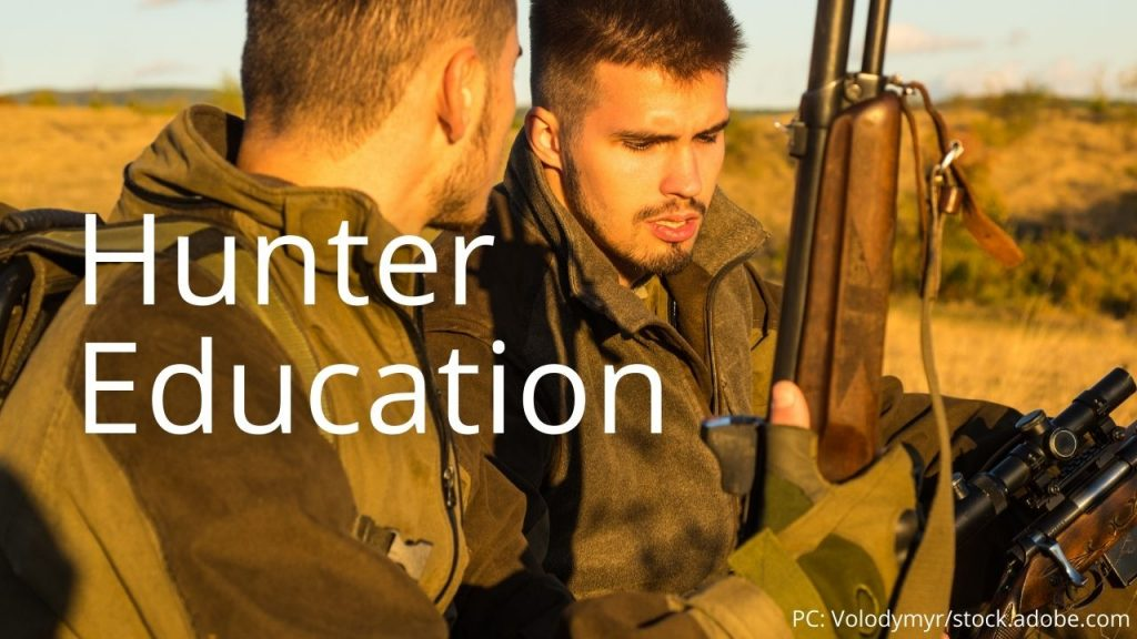 An image of two hunters linking to Hunter Education info