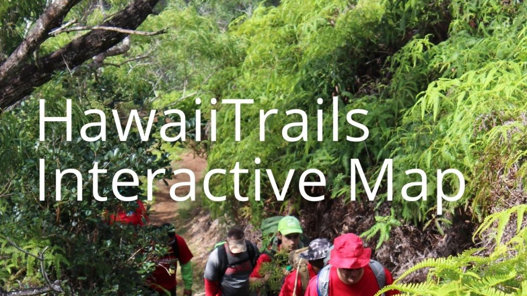 An image of people hiking linking to the HawaiiTrails portal
