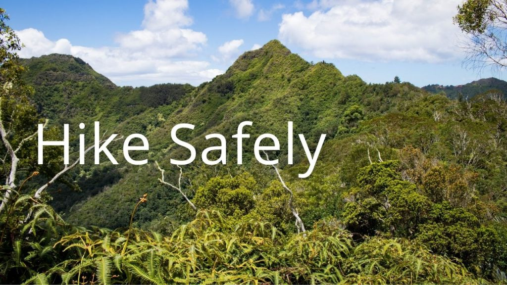 An image of a mountain linking to info on hiking safely