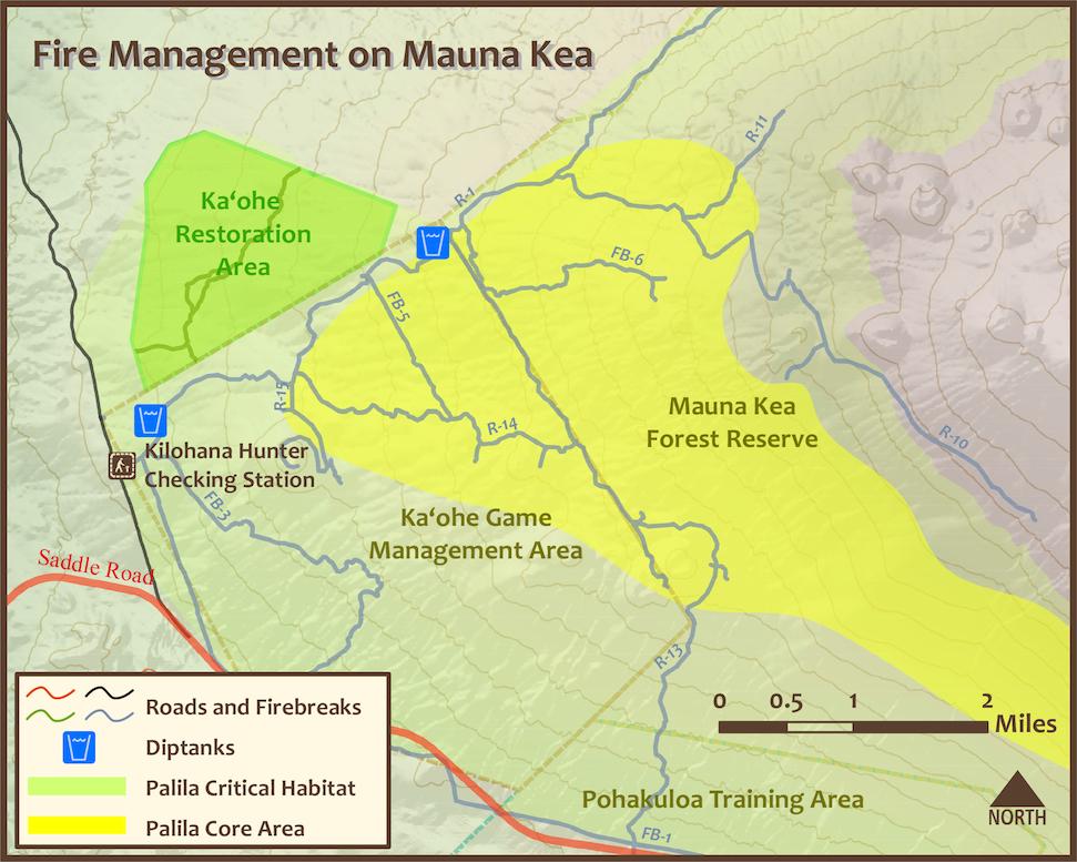 Mauna Kea Dip tank map
