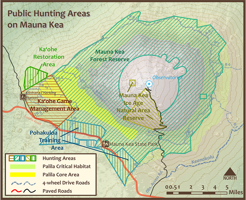 Mauna Kea Hunting Area Map