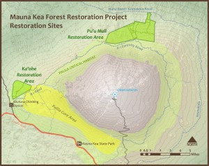 Mauna Kea Restoration Map