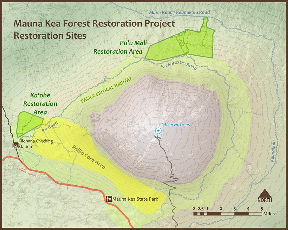 MKFRP Restoration Areas map