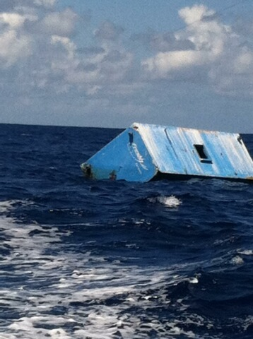 Photo of large container last seen off windward Oahu. Photo courtesy DLNR Land Division.