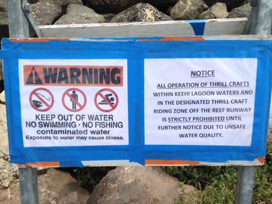 Warning Sign - Contaminated Water