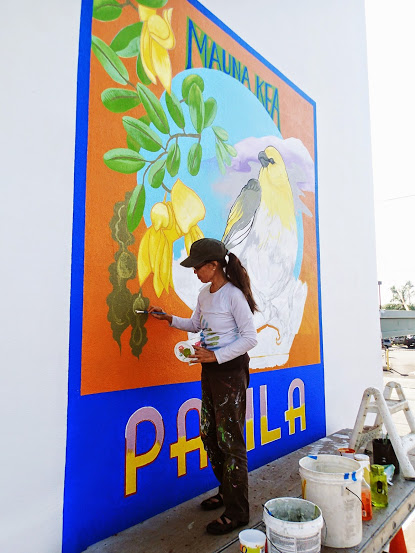 Division of forestry and wildlife palila mural in for Abercrombie mural