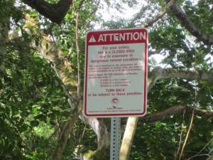 Sacred Falls Sign