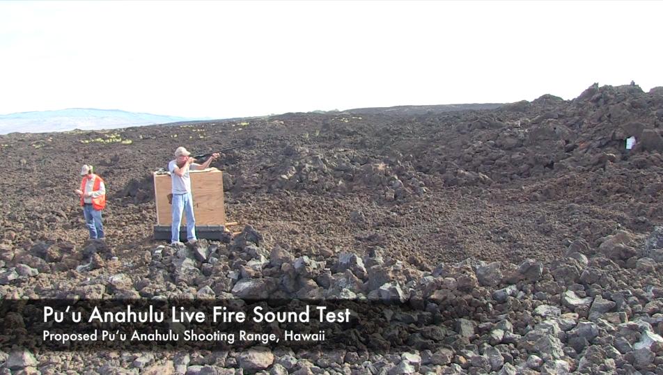Puu Anahulu Live Fire Sound Test