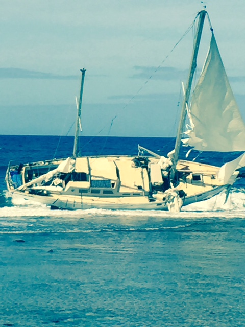 Moloaa Bay Vessel Aground