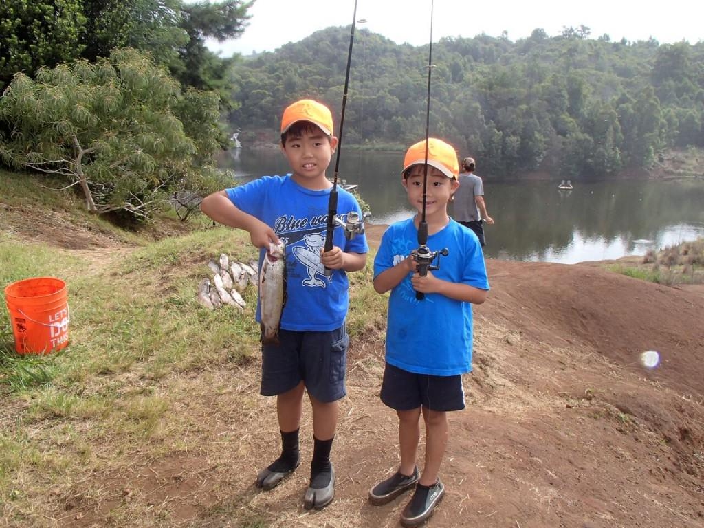 rainbow trout in the Koke'e Public Fishing Area