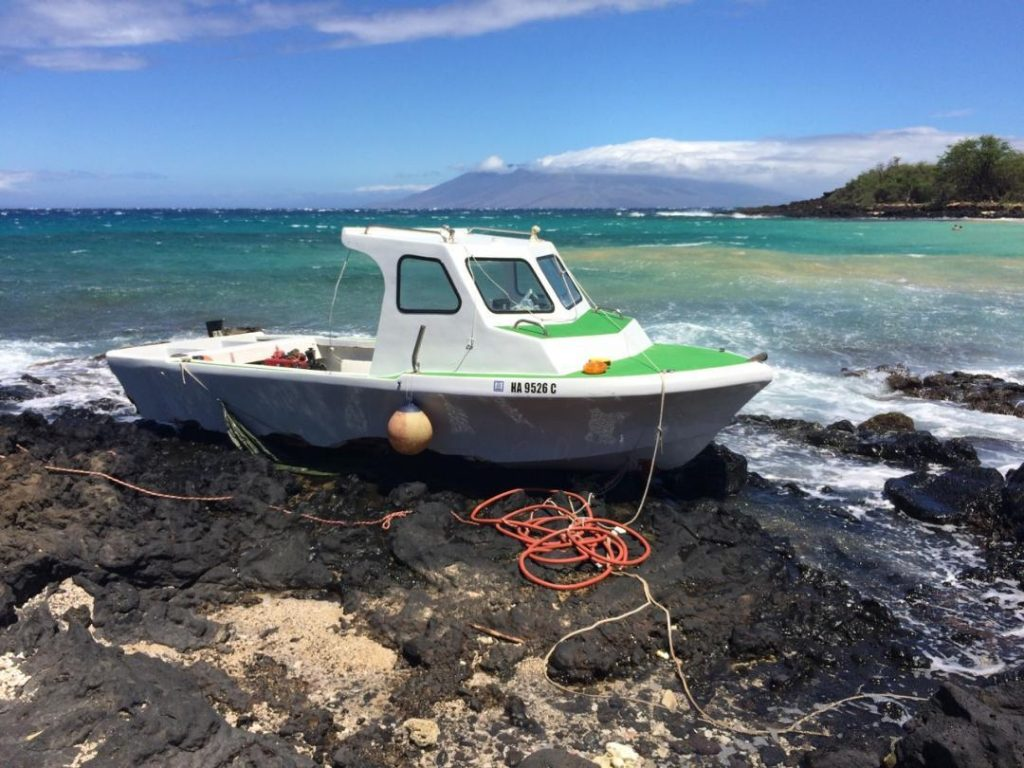 Grounded-Vessel-Little-Beach