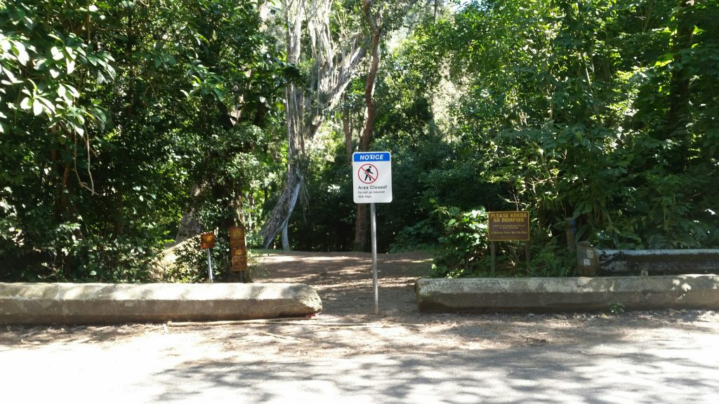Judd Trail Closed Sign