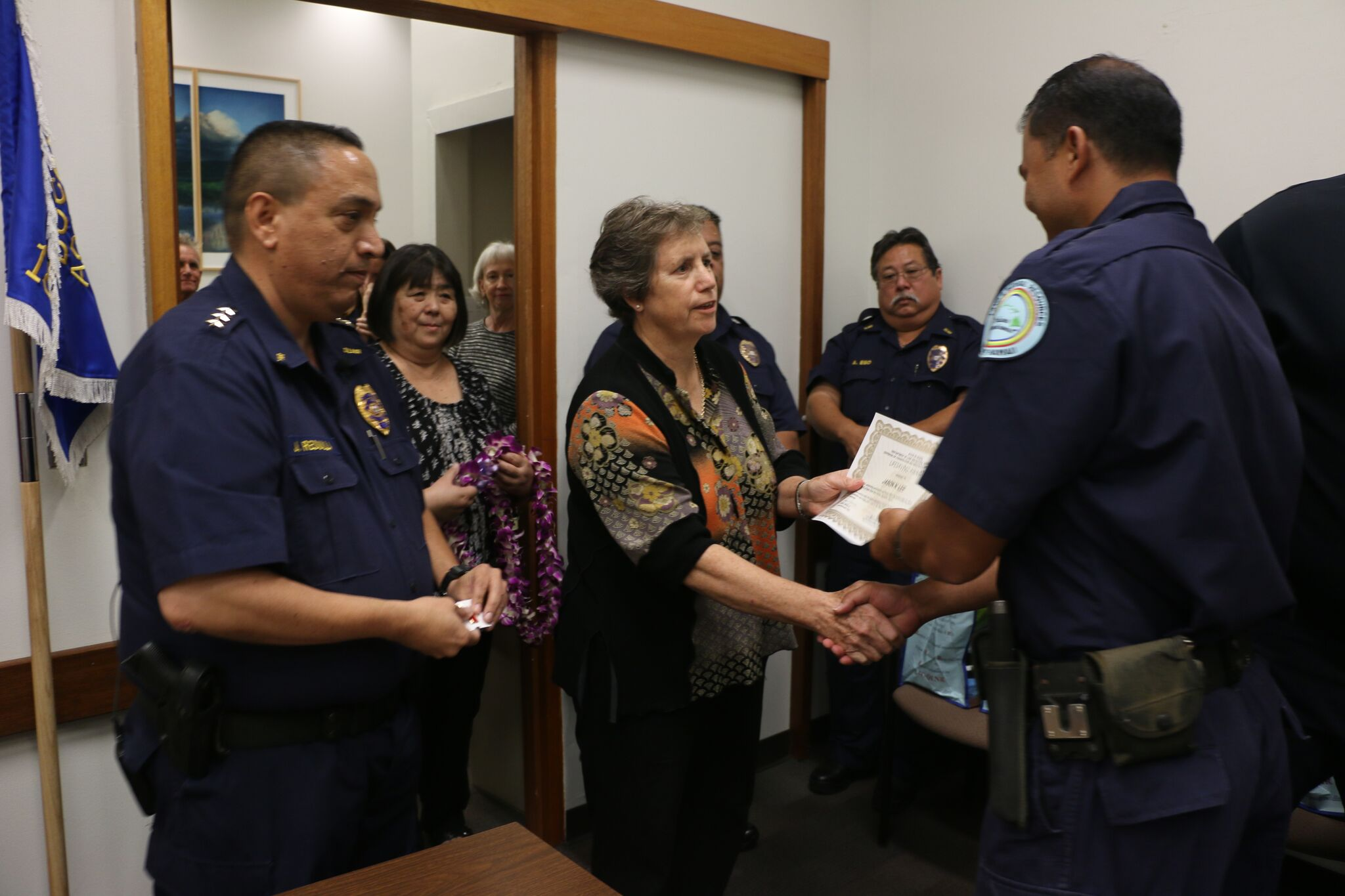 CONSERVATION OFFICERS HONORED FOR SAVING MAN'S LIFE